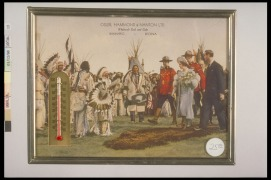 1939 Royal Visit: King George VI & Queen Elizabeth, 1939. Promotional Thermometer, (15.4 x 20.5 x 0.8cm). CMH no. 998.14.12