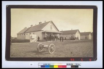 Louis Riel North West Rebellion 1885, 1885. Photograph, (10 x 21.3cm). CMH no. 996.2.12