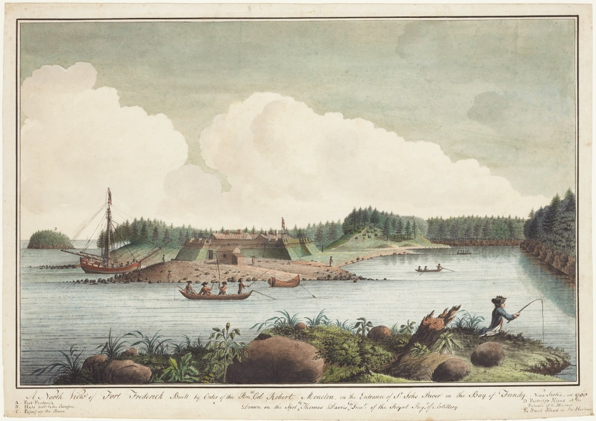 A North View of Fort Frederick Built by Order of the Honourable Colonel Robert Monckton