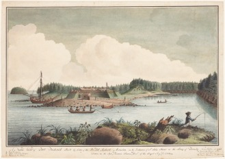 Thomas Davies. A North View of Fort Frederick Built by Order of the Honourable Colonel Robert Monckton, 1758. Watercolour, pen and black ink on laid paper, (37.7 x 53.6 cm). NGC no. 6269