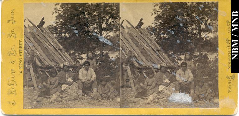 Aboriginal Group at Gagetown, 1875-1878