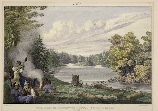 Encampment of Surveying Party at the Site of Stanley_July 1834_PANB