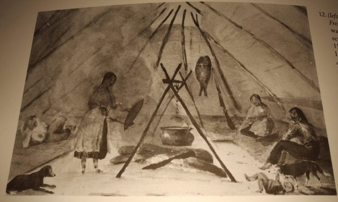 Interior of a Wigwam Fton_Herries_1835-7_BAG