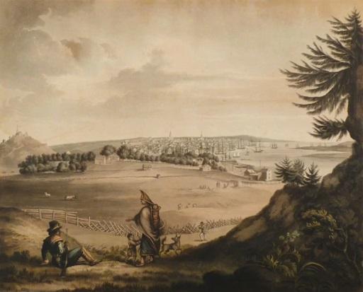 View of City & Harbour of SJ_1815_NBM_Accession no 21183.2