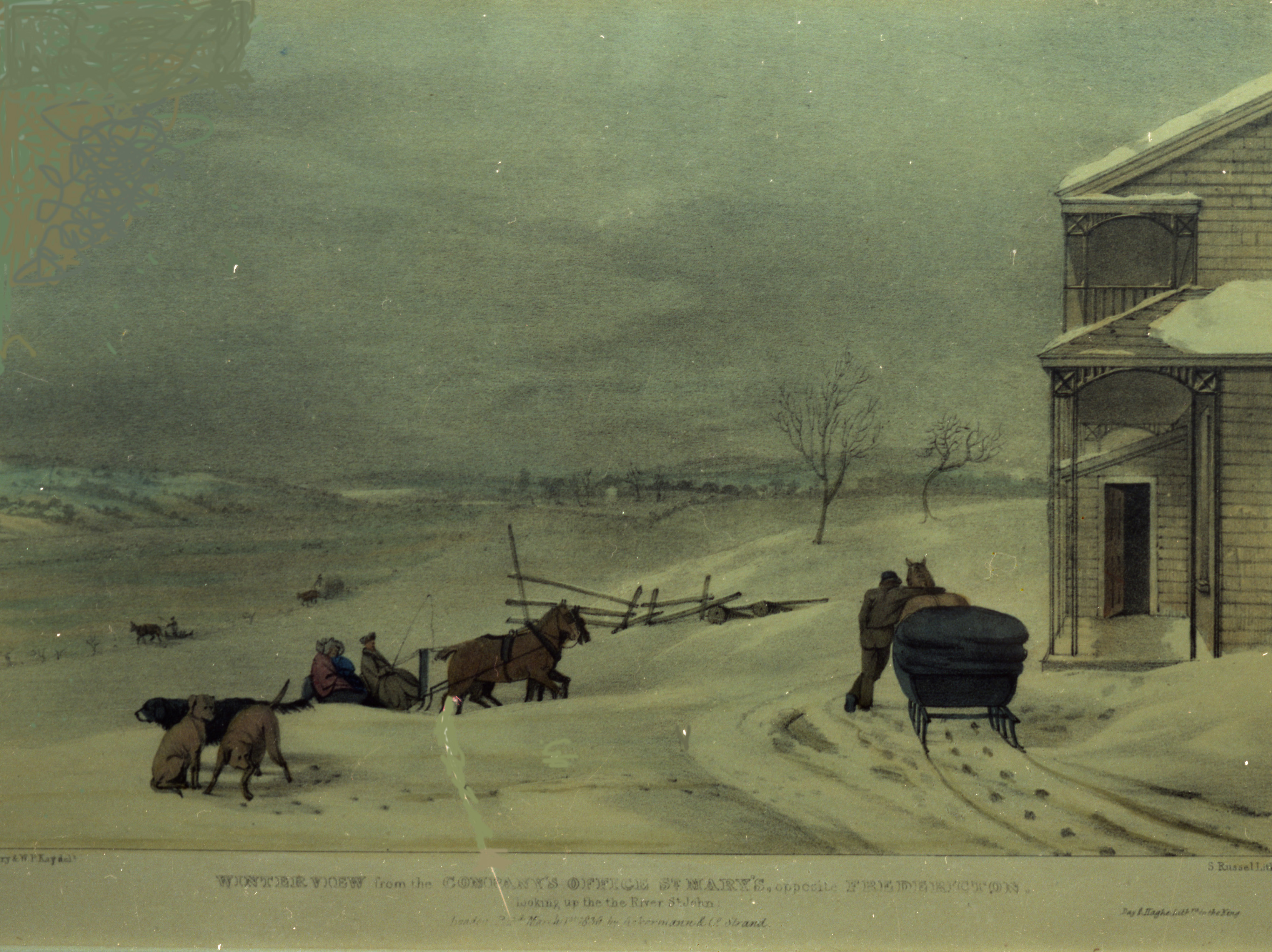 Winter View from the Company's Office, St. Mary's 1836_BAG