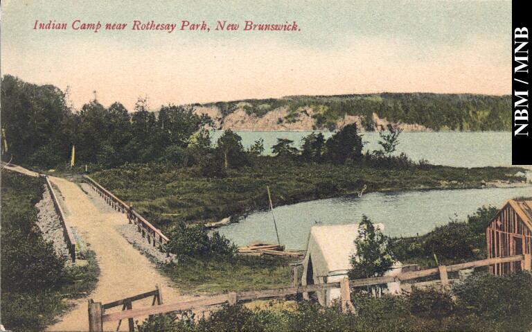 Wolastoqew Camp near Rothesay Park c1910